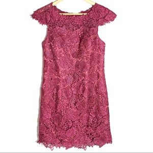NWT JJ'S House pink cap sleeve lace dress